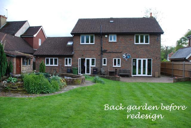 Back garden in Ashtead before redesign Lisa Cox Designs