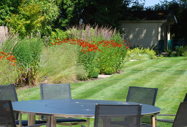 Garden in East Horsley one year on Lisa Cox Designs