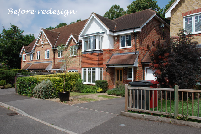 Front garden in Reading before redesign Lisa Cox Designs