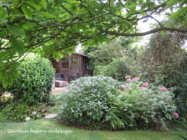 Garden in Epsom before redesign Lisa Cox Designs