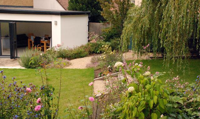 Leatherhead garden planting 1 year on Lisa Cox Designs