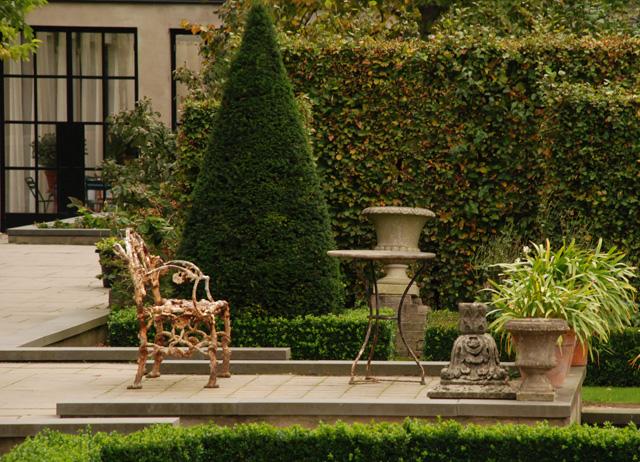 Formal garden at Villa Augustus Hotel Lisa Cox Designs