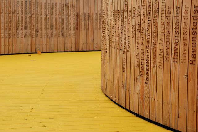 Rotterdam Citizens Crowdfund wooden yellow walkway Lisa Cox Garden Designs