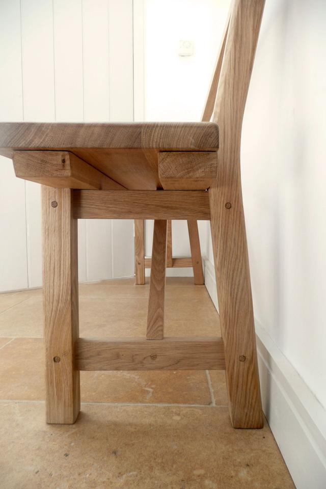 Oak seat detail by Jonathan Blackburn joinery