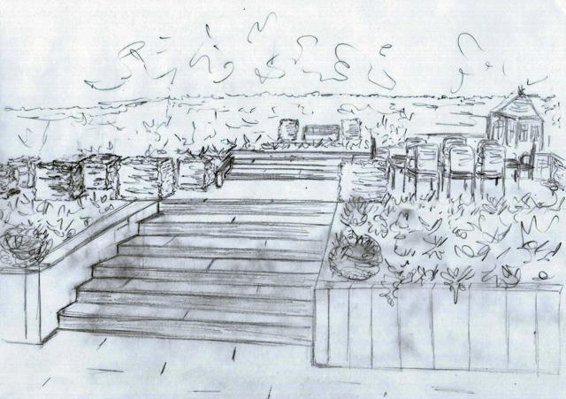 Concept sketch Lisa Cox Garden Designs