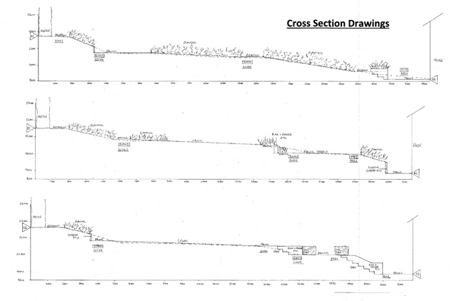 Cross section drawings of levels Lisa Cox Garden Designs