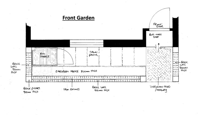 Front garden Design Richmond by Lisa Cox