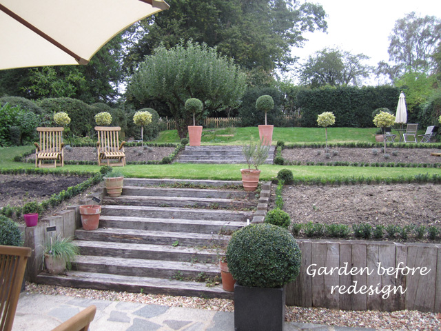 Garden before redesign near Redhill Lisa Cox Designs copy
