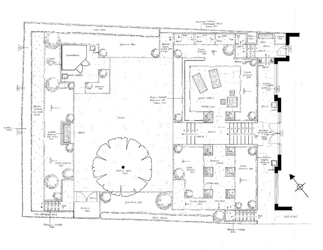 Presentation Plan near Redhill Surrey Lisa Cox Garden Designs
