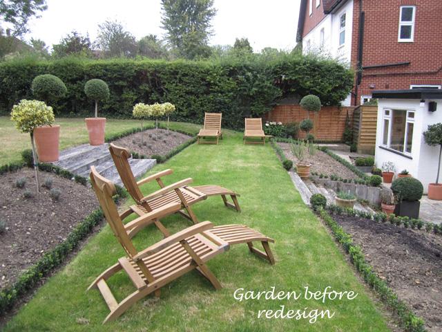 Redhill garden before redesign Lisa Cox Designs