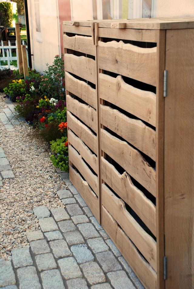Oak bin store A Front Garden RHS Cardiff 2015 Lisa Cox