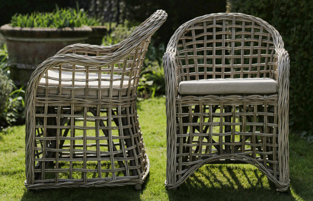 Carlos rattan chairs by Oxenwood outdoor furniture