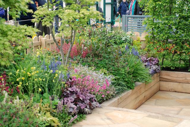 Planting in Cornerstone show garden RHS Malvern Lisa Cox