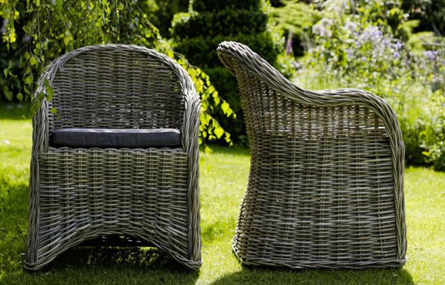 Roma rattan chairs by Oxenwood outdoor furniture