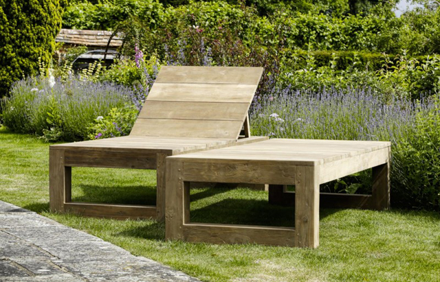 Sun lounger by Oxenwood outdoor furniture