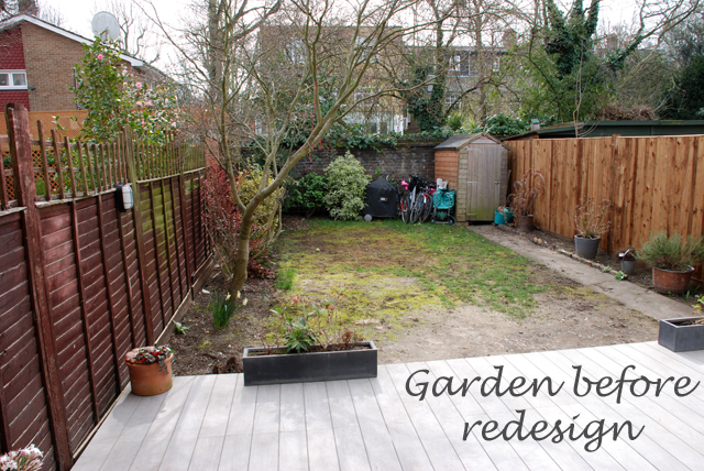 Back garden before redesign Lisa Cox Designs. From the drawing board  Finished garden in Chiswick   Lisa Cox