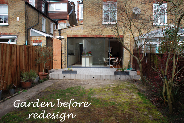 Chiswick garden before redesign Lisa Cx Garden Designs