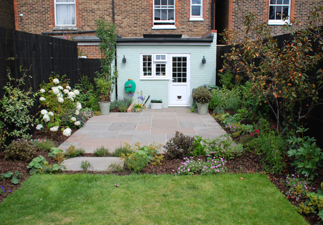 Back garden Reigate nearly finished Lisa Cox Designs