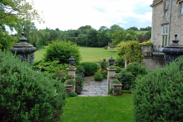 Look out at the landscape Iford Manor Garden Lisa Cox Designs