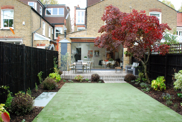 Chiswick garden after planting Lisa Cox