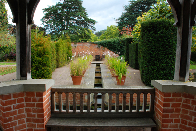 Stepped water rill at Hampton Court Herefordshire Lisa Cox