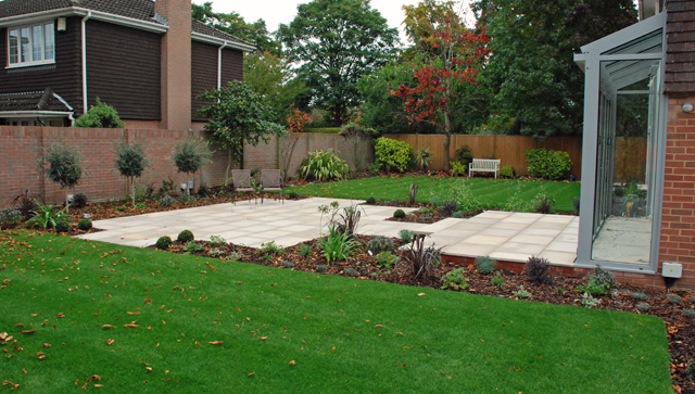 Plans for l shaped gardens lisa cox garden designs blog for Back garden ideas