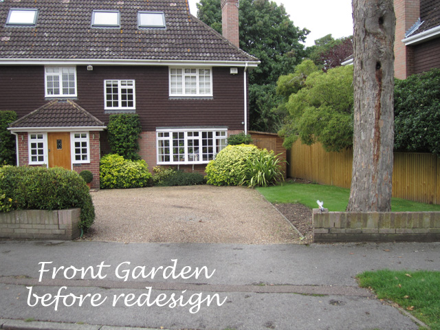 Front garden before redesign
