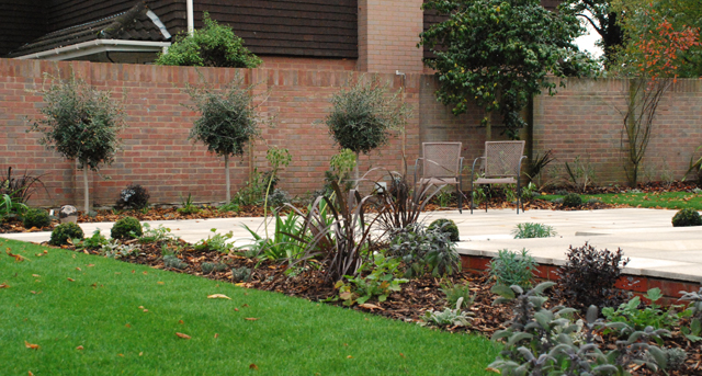 Weybridge garden after construction Lisa Cox Designs