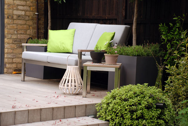 Lounge seat Chiswick Garden 6 months on Lisa Cox Designs