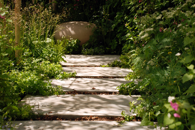 Stepped pathway Hartley Botanic Garden RHS Chelsea 2016 Lisa cox