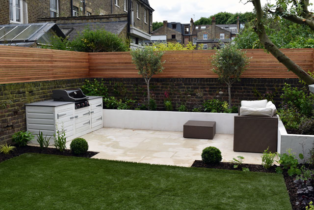 Built-in BBQ Hammersmith Garden Lisa Cox Designs