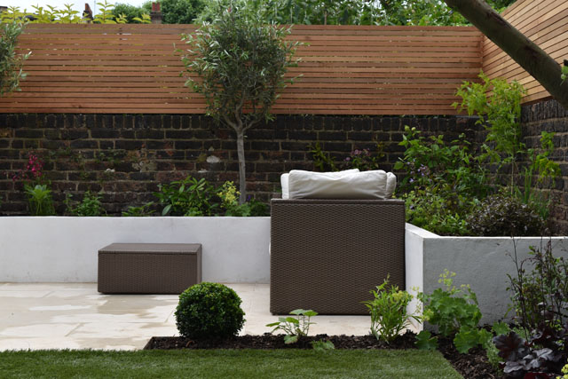 Lounge seating Hammersmith garden Lisa Cox Designs