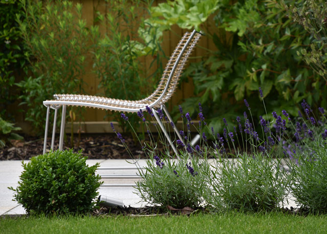 Contemporary lounge chairs Lisa Cox Garden Designs