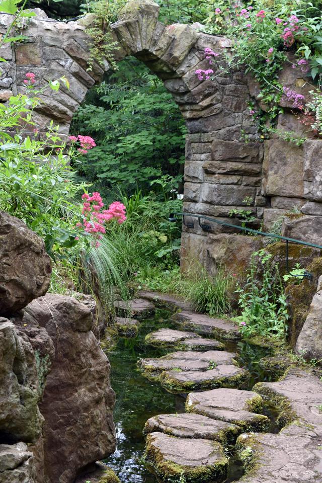 Entrance to Dewstow Gardens Lisa Cox Designs