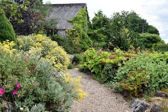 Gravel garden at Dewstow Lisa Cox Designs