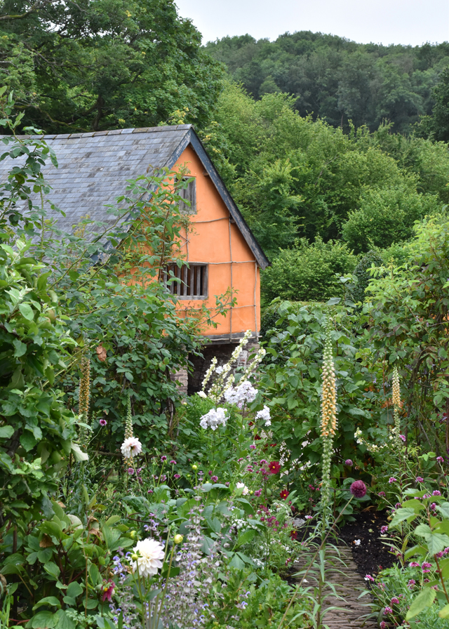 View from the cutting garden Allt-y-bela Lisa Cox