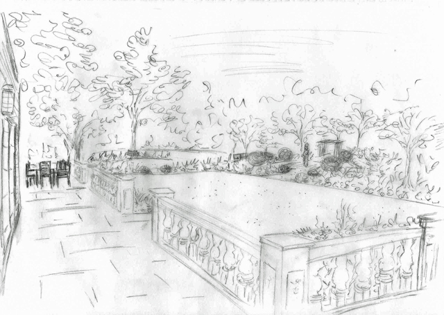 view-of-back-garden-hurley-concept-sketch-lisa-cox