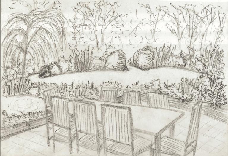 Concept Sketches For A Garden In Ockley 171 Lisa Cox Garden
