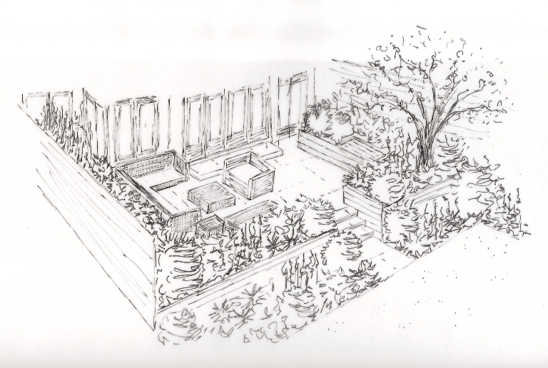 From the drawing board the final drawings for a london for Garden design sketches