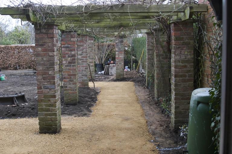 Brick Pergola Lisa Cox Garden Designs Blog