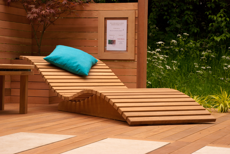 Wooden Sun Lounger Lisa Cox Garden Designs Blog