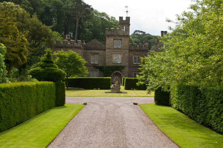 Front entrance of Gresgarth Hall