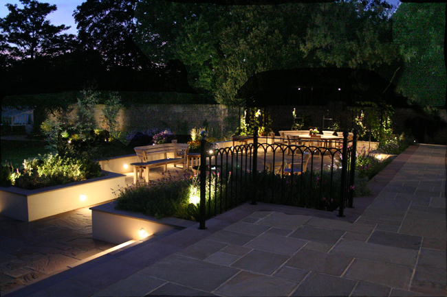 Dulwich town house garden - Ornamental garden lighting