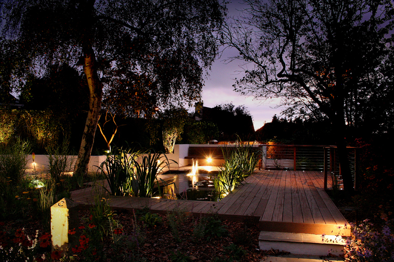 Lighting scheme for listed property in Surrey - Ornamental Garden Lighting