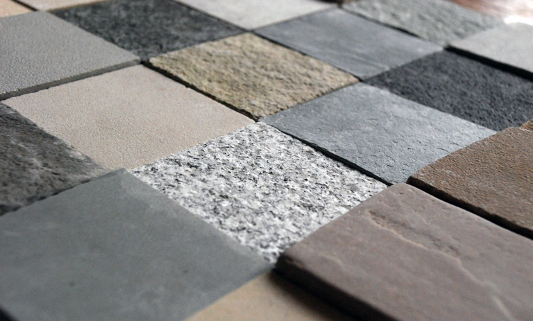 Natural stone paving samples