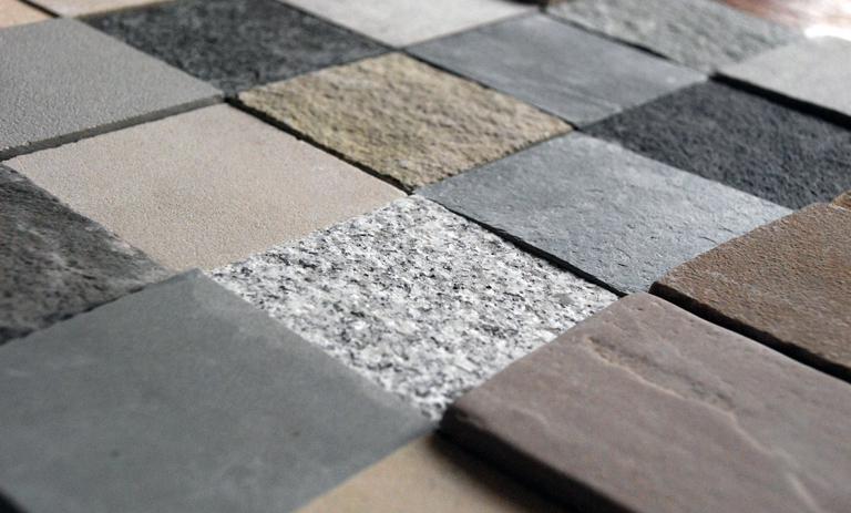 Natural stone paving samples