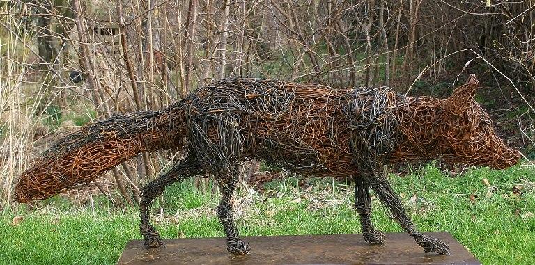 Wire Garden Sculpture Lisa Cox Garden Designs Blog