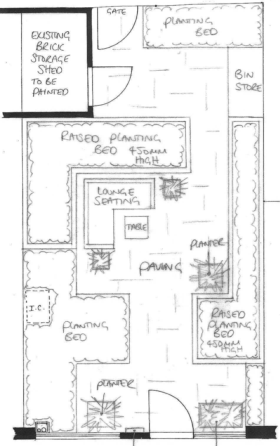 From the drawing board concept design and sketches for a for Drawing garden designs