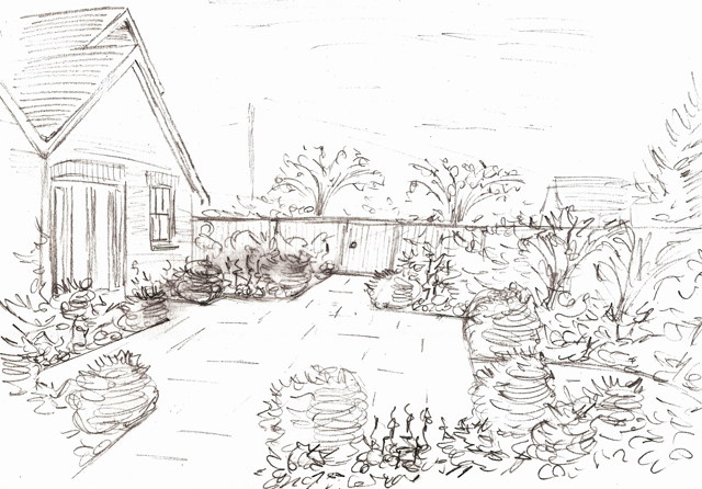 Line Drawing Garden : Garden sketch ideas « lisa cox designs