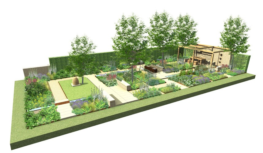 Looking forward to rhs chelsea flower show 2013 lisa cox for Geometric garden designs